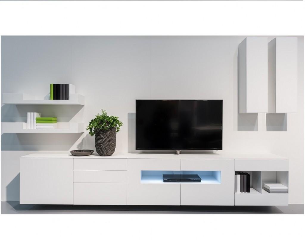Wonen kasten tv meubelen karat wit hoogglans tv for Tv meubel design