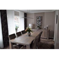 Eettafel 'Newport' en eetkamerstoelen 'Albufera'