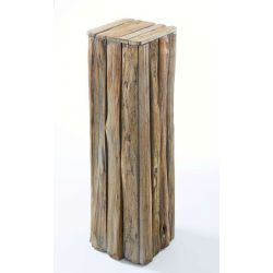 Pedestal Abrega natural wood h100