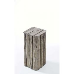 Pedestal Abrega antique grey wash h60