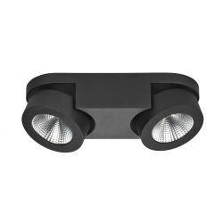 Spot Montreal Zwart LED (2x5W) recht