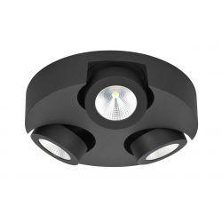 Spot Montreal Zwart LED (3x5W) rond