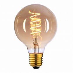 E27 LED filamentlamp - globe 95 - 4W dimbaar - amber