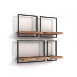 Shelfmate teakhout wandplanken set 11