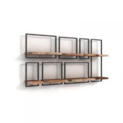 Shelfmate teakhout wandplanken set 15