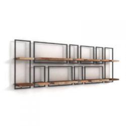 Shelfmate teakhout wandplanken set 16