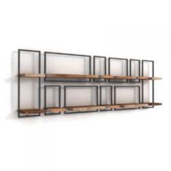 Shelfmate teakhout wandplanken set 17