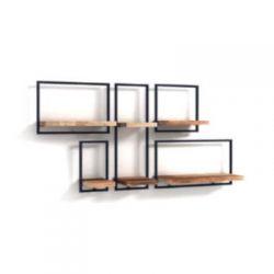 Shelfmate teakhout wandplanken set 18
