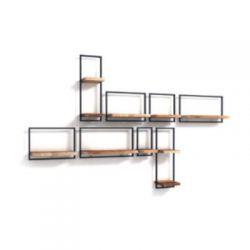 Shelfmate teakhout wandplanken set 22