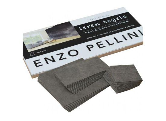Enzo Pellini wandbekledingset patchwork antraciet