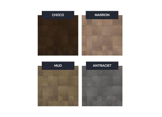 Enzo Pellini wandbekledingset patchwork marron
