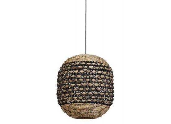 Hanglamp Capena naturel zwart
